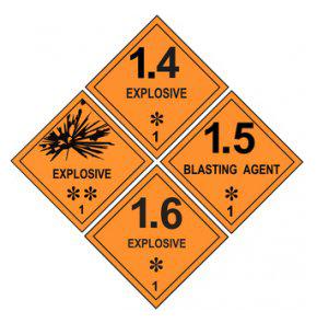 Transport explosiver Stoffe